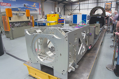 Bloodhound SSC lower chassis from the rear.