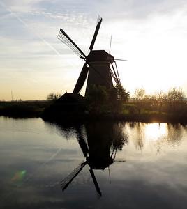Water pumping windmill Kinderdijk. November 2014.