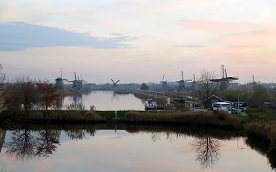 The pumping windmills at Kinderdijk, Netherlands, a UNESCO World Heritage Site. November 2014.