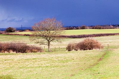 Storm over Chipping Sodbury seen from Ram Hill.