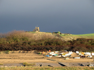 Uphill Church after a rain storm.