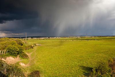 Hailstorm over Topsham.