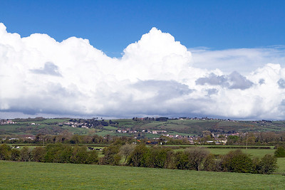 Skyscape over Bleadon Hill from Lympsham.