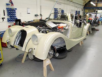 Morgan cars production line.