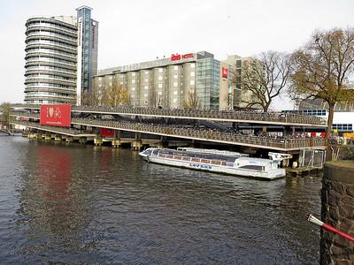A multi storey bike park for 4000 bikes at Amsterdam Centraal Station. November 2014.