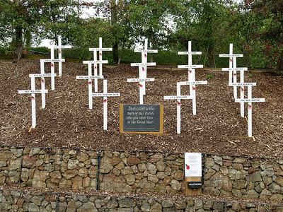 The very tasteful war memorial at Bleadon village, Somerset. August 2014.