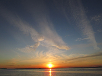 Sunset from Middle Hope, Sand Bay.