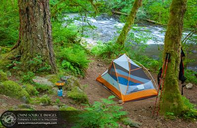 Eagle Creek Trail 7.5 Mile Camp - REI Quarter Dome 1 Tent