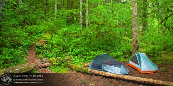 5 Mile Camp Site Along Eagle Creek Trail