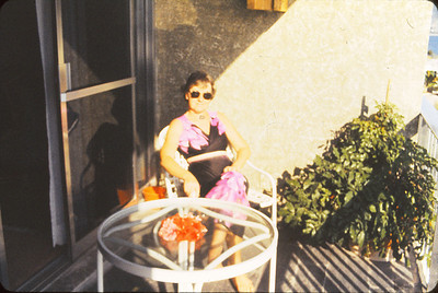 On our balcony