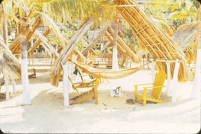 Hammock and chairs at our Palapa