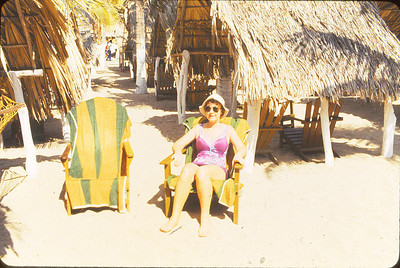 At our Palapa on the beach