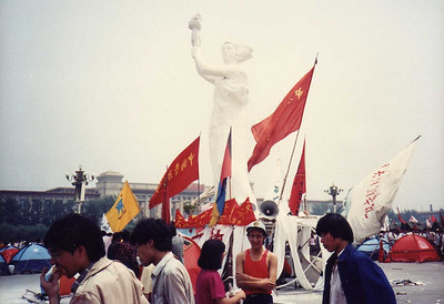 Goddess of Democracy Made and Erected By the Students