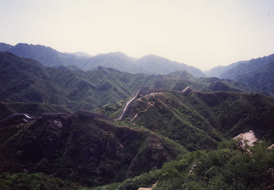 Great Wall Goes On and On O'er Hill and Dale--Dates from Ming Dynasty (1368-1644)