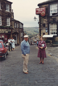 Main Street in Haworth, Yorkshire Moors