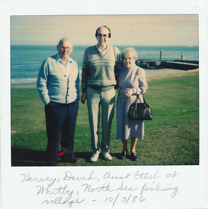 With David and Aunt Ethel at Whitby, a North Sea fishing village