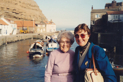 At Staithes Harbor, North Yorkshire
