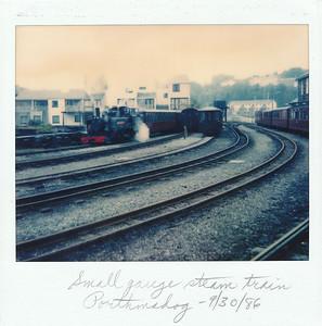 Porthmadog, where we got on a small gauge steam train