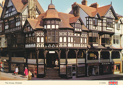 Typical Tudor style buildings in Chester