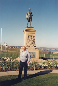 At Monument to Captain James Cook, who sailed from Whitby to sail to many places
