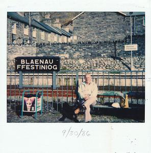 Blaenau Ffestiniog, where we went on the steam train