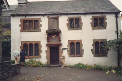 William Wordsworth's Grammar School, built 1585, in Hawkshead
