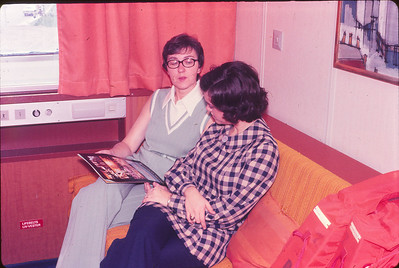 Janet and Phyllis in our cabin on the Song of Norway