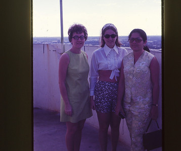 Phyllis with Fran Kay and Maria Herrera, a student from Panama