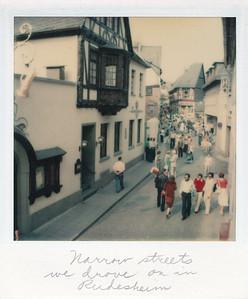 Narrow streets we drove on in Rudesheim