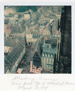 View from top of Cathedral, Strasbourg, France