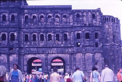 Porta Nigra, in Trier, the oldest German city, northern gate of the Roman Empire