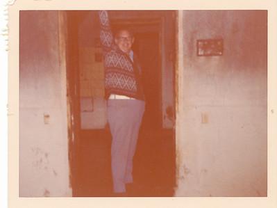 "Harvey inside one of the rooms in Hitler's bunkers--""Heil Hitler"""