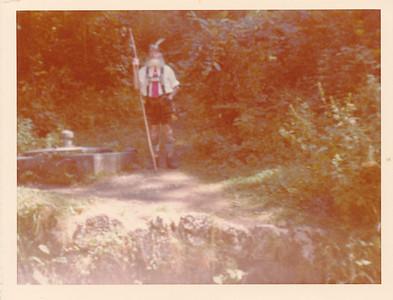 Old Bavarian Man on road from Neuschwanstein