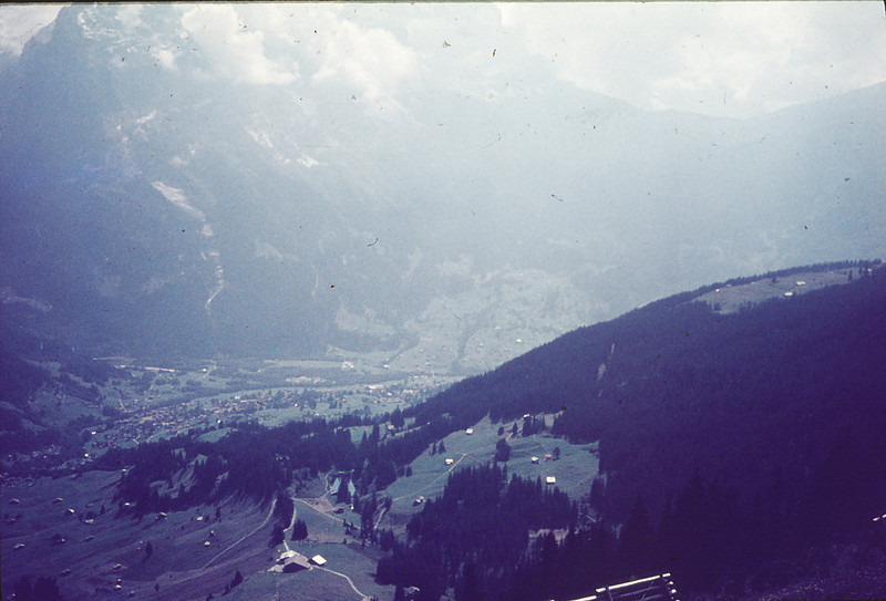 Looking down to Grindelwald