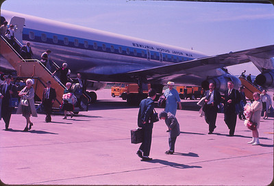 Our KLM plane in Glasgow, Scotland