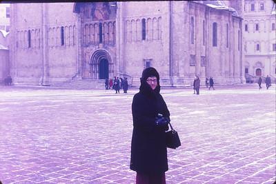 Bundled up in Cathedral Square, Kremlin