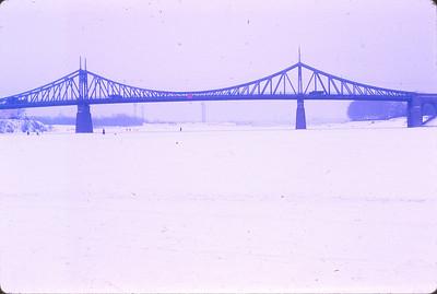 A bridge crossing the Volga