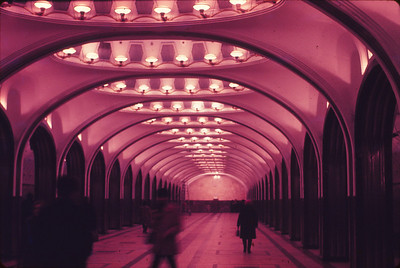 One of many beautiful subway stations