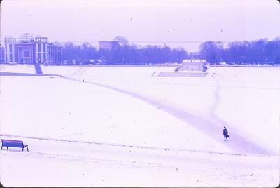 Frozen Volga River