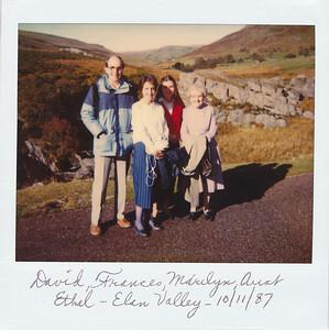 Daavid, Frances, Marilyn, Aunt Ethel in Elan Valley