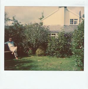Harvey in the garden area