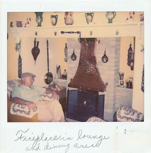 Fireplace kept Harvey busy every day