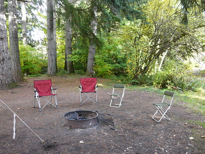 Chairs around the fire ring