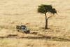 Driving over the Masai Mara