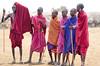 Masai warriors, Amboseli NP