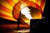Our Ballon being inflated at Dark a.m.   Masai Mara