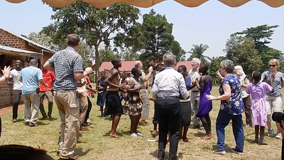 Dancing at Hope for Youth School