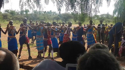 Dancing at Adam Nkuyan School