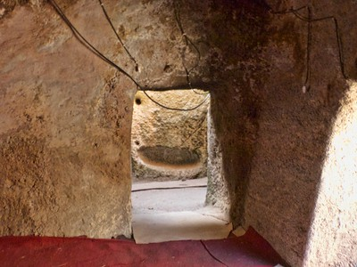 Interior of Adadi Mariam.  Notice the exposed electrical wires.