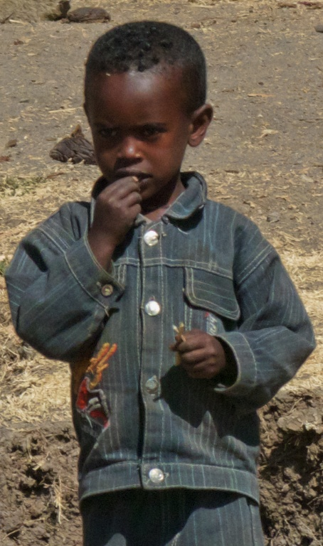 One of the children we saw in this village south of Addis.